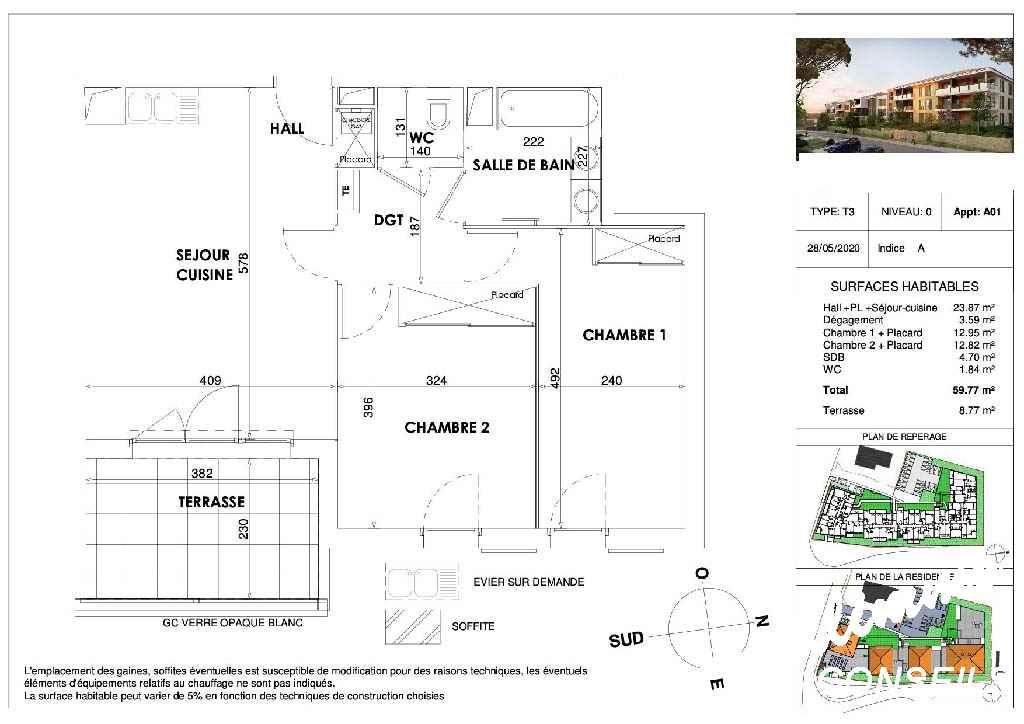 Appartement T3 neuf avec terrasse et parking - DRAGUIGNAN - Côte d'Azur