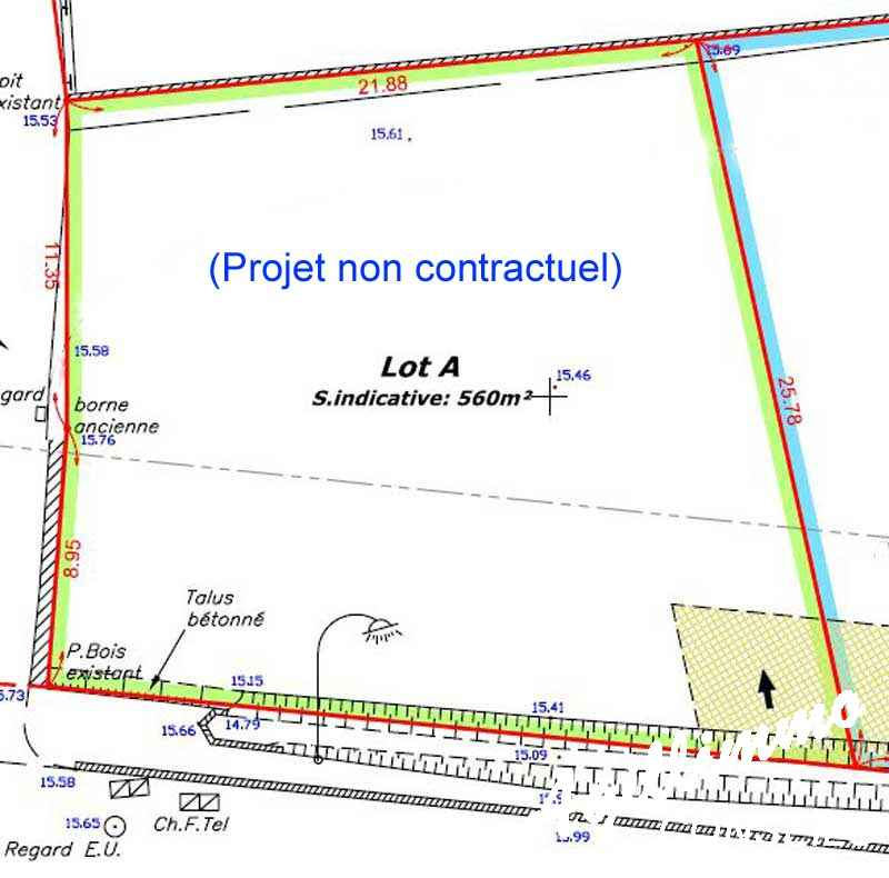 Terrain à bâtir de 560 M2 - PUGET SUR ARGENS - Côte d'Azur