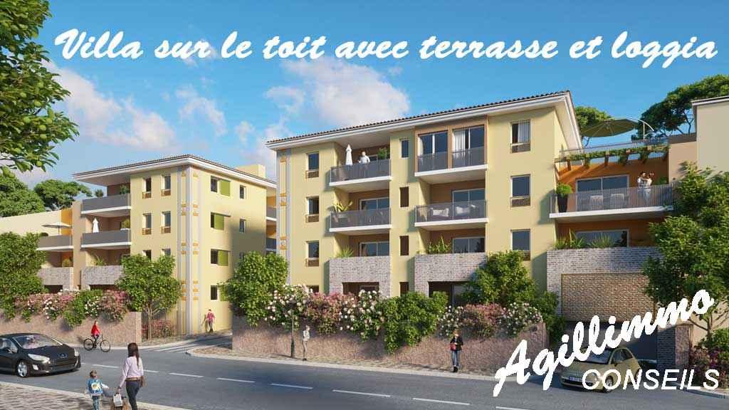 Villa sur le toit avec terrasse et garage - PUGET SUR ARGENS - Côte d'Azur