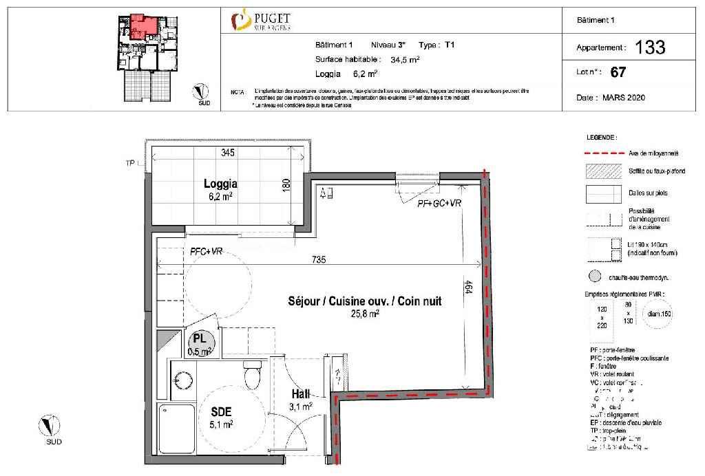 Appartement Studio neuf centre-village - PUGET SUR ARGENS - Côte d'Azur